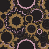 Stock  seamless doodle floral pattern. orient. boho Royalty Free Stock Photography