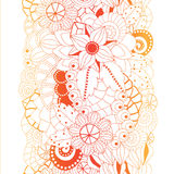 Stock  seamless floral  doodle pattern. Stock Image