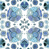 Stock  seamless flower, doodle pattern. abstract art  Royalty Free Stock Photo