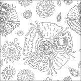 Stock  seamless flower, doodle pattern. abstract art  Stock Photography