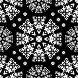 Stock  seamless orient floral pattern, black and white Royalty Free Stock Photos