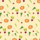 stock  seamless vegetable pattern on light background Royalty Free Stock Photo