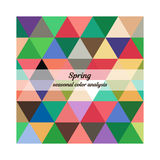 Stock seasonal color analysis palette for spring type. Type of female appearance. For your design vector illustration