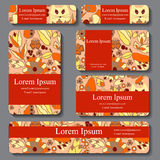 Stock  set of business card. decorative ornament  Royalty Free Stock Photography