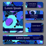 Stock  set of business card. decorative ornament. template Royalty Free Stock Images