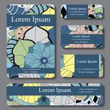 Stock  set of business card. decorative ornament. template Stock Photo