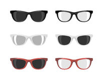 Stock set of sunglasses different colors and shades Royalty Free Stock Photo