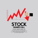 Stock Shares Fall Down. Stock Shares Fall Down Vector Illustration Conceptual EPS10 Royalty Free Stock Image