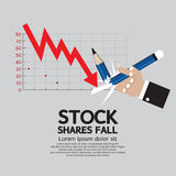 Stock Shares Fall. Vector Illustration Stock Photos