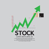 Stock Shares Raise Up. Stock Image