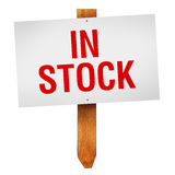 In Stock sign isolated on white background Royalty Free Stock Photos