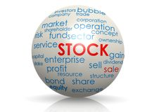 Stock sphere Royalty Free Stock Photography