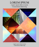 Stock  template for brochure, card, cover, book with patch Stock Images