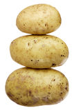 A stock of three potatoes Royalty Free Stock Image