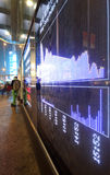 Stock ticker board Stock Photos