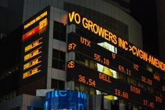 Stock ticker in Times Square Stock Image
