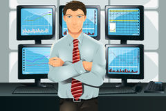 Stock trader Royalty Free Stock Photography