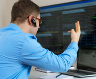 Stock trader. Royalty Free Stock Photo
