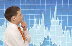Stock trader Royalty Free Stock Photo