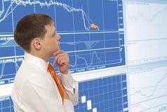 Stock trader Royalty Free Stock Image