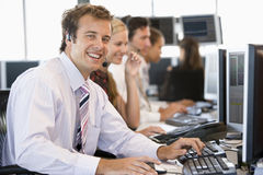 Stock Trader Smiling At Camera Stock Photography