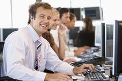 Stock Trader Smiling At Camera Stock Photography