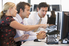Stock Trader Team At Work. During day royalty free stock image