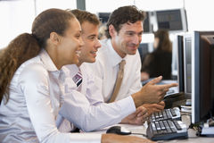 Stock Trader Team At Work Stock Photos