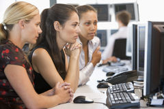 Stock Trader Team At Work Royalty Free Stock Photos