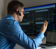 Stock trader. Stock Images