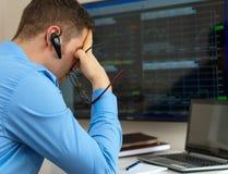 Stock trader. Stock Photos