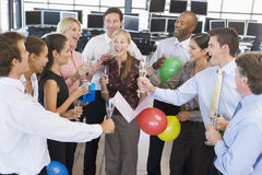 Stock Traders Celebrating In The Office Royalty Free Stock Images