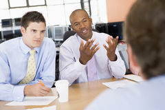 Stock Traders Conducting Interview Stock Images