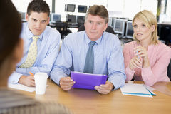 Stock Traders Conducting Interview. During day Royalty Free Stock Photo