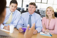 Stock Traders Conducting Interview. During day Royalty Free Stock Photos
