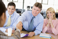 Stock Traders Conducting Interview. During day Stock Images