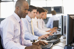 Stock Traders At Work. During day Royalty Free Stock Image