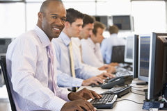 Stock Traders At Work Royalty Free Stock Images