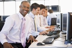 Stock Traders At Work Stock Photos