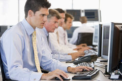 Stock Traders At Work Royalty Free Stock Photo