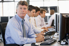 Stock Traders At Work Royalty Free Stock Photos