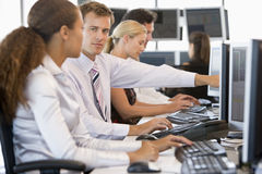 Stock Traders Working At Computers Stock Photography