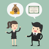 Stock trading. Business concept cartoon illustration Royalty Free Stock Image