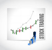 Stock trading business graph illustration design Royalty Free Stock Photo