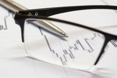 Stock trading chart Stock Images