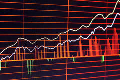 Stock trading chart. China's stock; Securities and Exchange stock photography