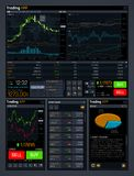 Stock trading vector concept ui with analyze data tools and financial forex market charts. Finance market data, diagram and chart, trade financial graph Stock Photo