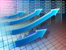 Stock trend. Stock market positive trend. Digital illustration Royalty Free Stock Image