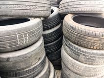 Stock used black tire Stock Images