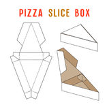 Stock vector box for pizza slice. Simple design. Unwrapped and 3d image Royalty Free Stock Photos